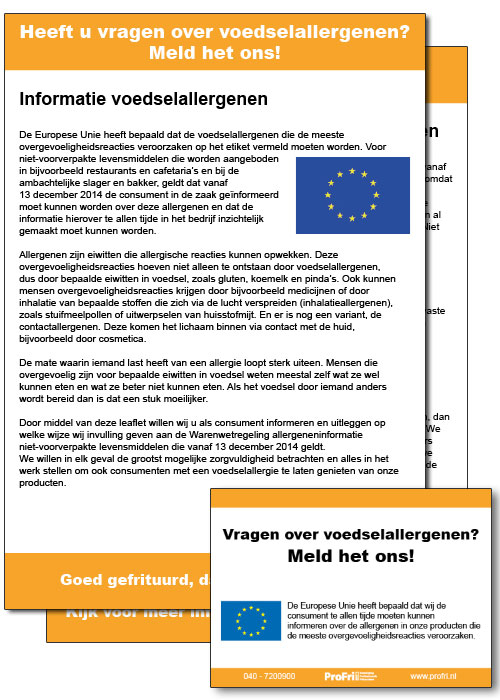Allergenen-Leaflet en Sticker